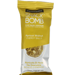 Snack Conscious Snack Bomb Apricot Walnut Energy Balls Snack Size