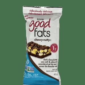 Love Good Fats Chewy-Nutty Keto Bars Dark Chocolatey Sea Salt & Almond