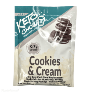 Keto Chow – Cookies and Cream Shake (Single Serving)