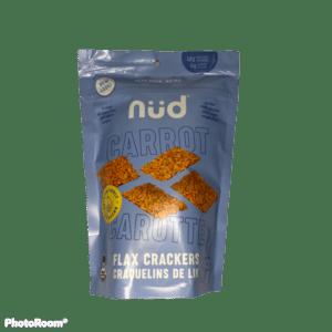 KETO Carrot Flax Crackers